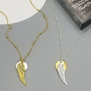 Rock Gypsy angel wing satellite chain necklace
